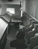 Photograph of Nouwen praying at the Abbey of the Genesee