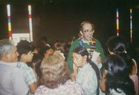 Photograph of Nouwen in Church of Ciudad de Dios